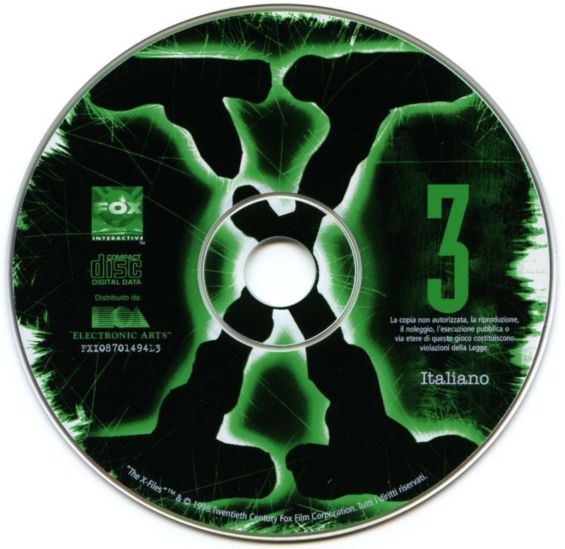 The X-Files Game Macintosh Media Disc 3/7