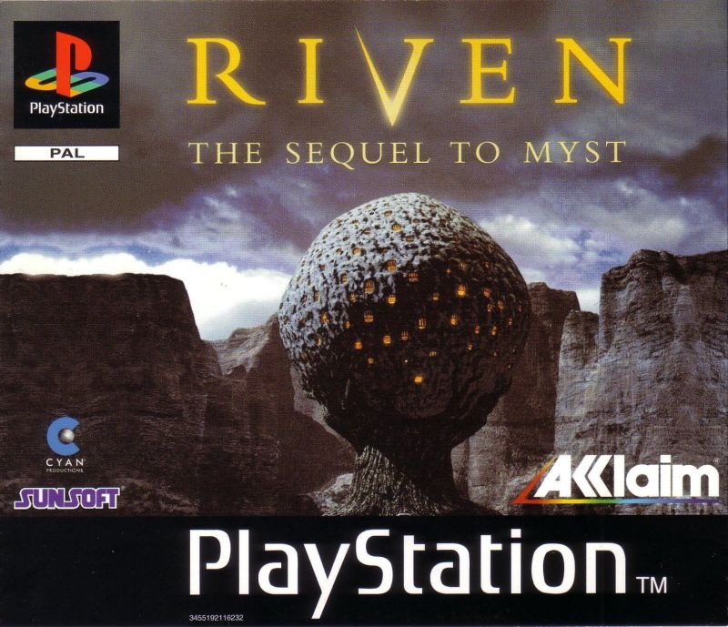 Riven: The Sequel to Myst PlayStation Front Cover