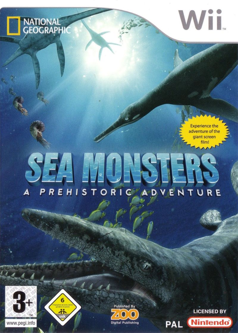 Sea Monsters: A Prehistoric Adventure Wii Front Cover