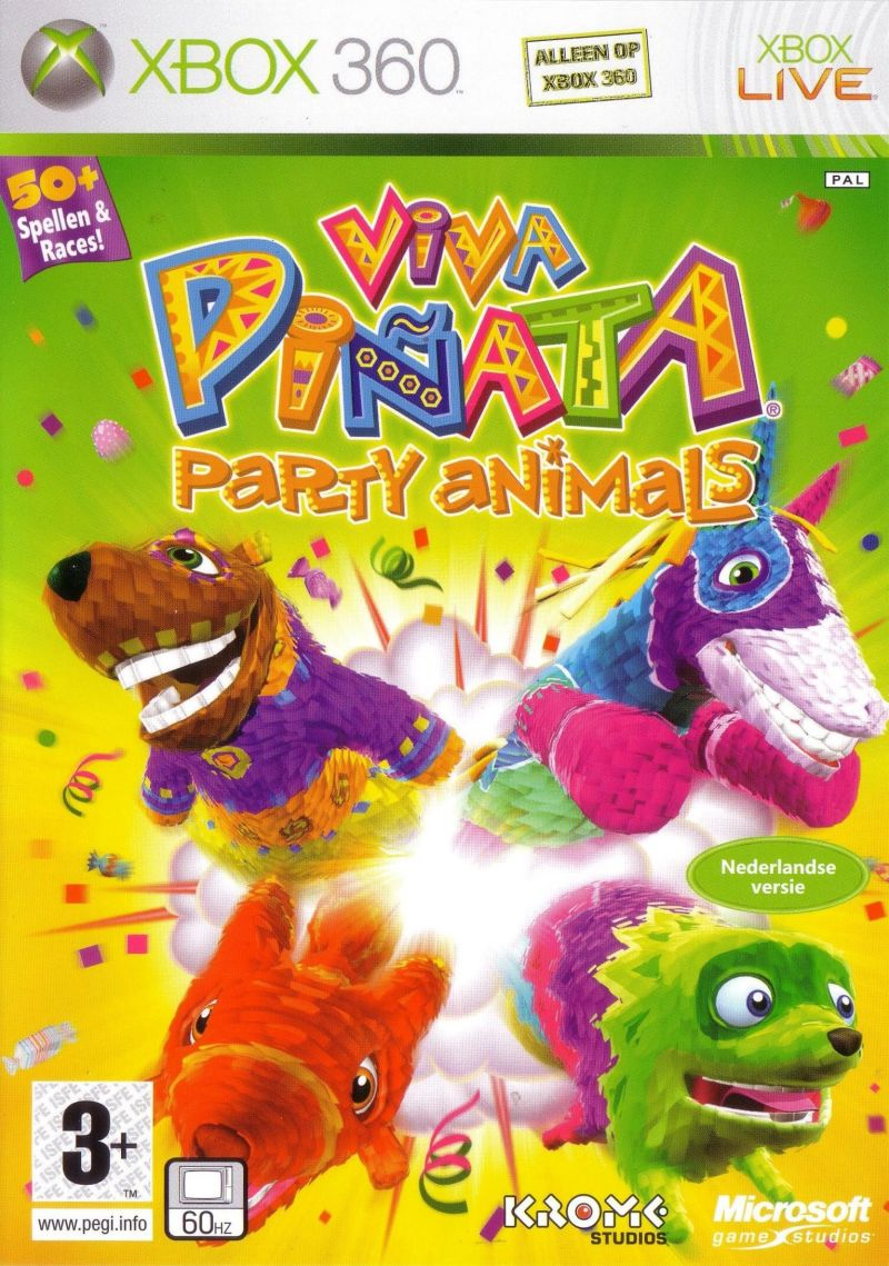 Viva Piñata: Party Animals Xbox 360 Front Cover