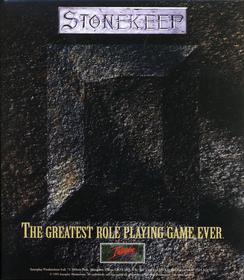 Stonekeep DOS Inside Cover Cardbox Inlay