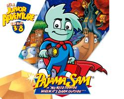 Pajama Sam: No Need to Hide When It's Dark Outside Windows Front Cover