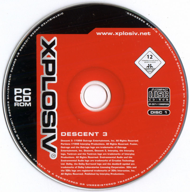 Descent³ Windows Media Disc 1