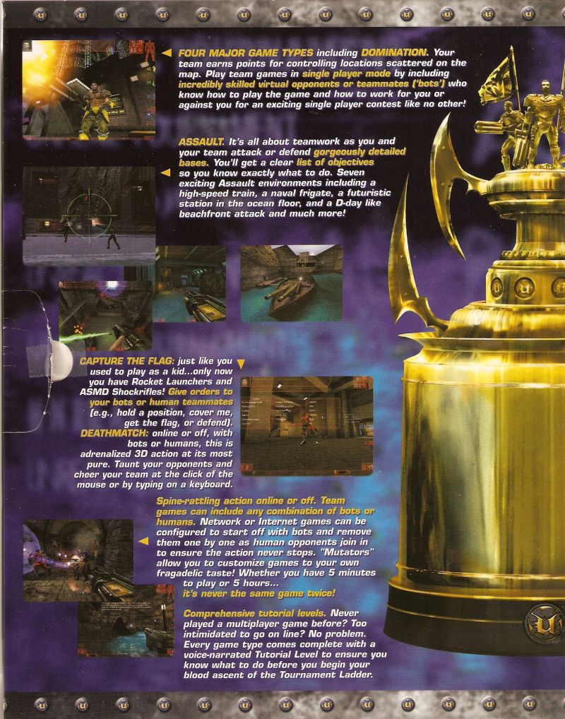 Unreal Tournament Windows Inside Cover Left Flap