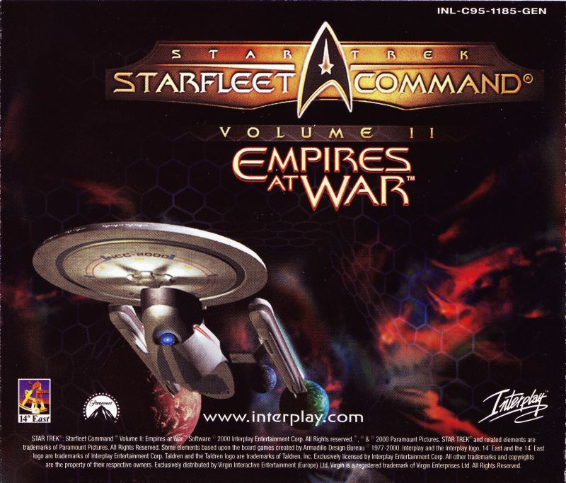 Star Trek: Starfleet Command Volume II - Empires at War Windows Other Jewel Case - Back