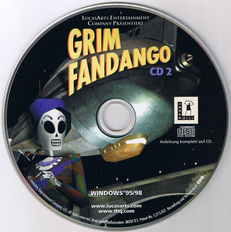 Grim Fandango Windows Media Disc 2