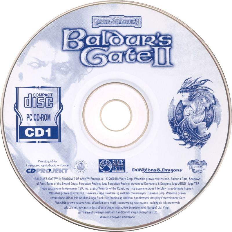 Baldur's Gate II: Shadows of Amn Windows Media Disc 1/4