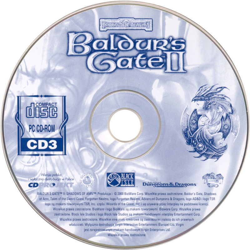 Baldur's Gate II: Shadows of Amn Windows Media Disc 3/4
