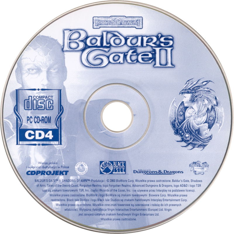 Baldur's Gate II: Shadows of Amn Windows Media Disc 4/4