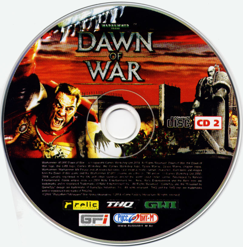 Warhammer 40,000: Dawn of War Windows Media Disc 2