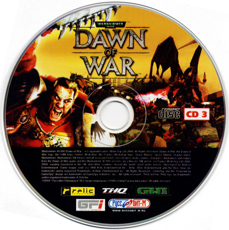 Warhammer 40,000: Dawn of War Windows Media Disc 3