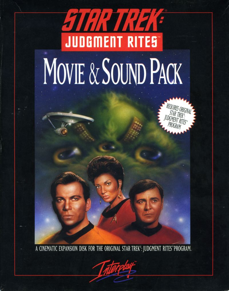 Star Trek: Judgment Rites - Movie & Sound Pack DOS Front Cover