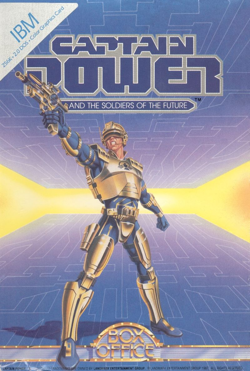 Captain Power and the Soldiers of the Future DOS Front Cover