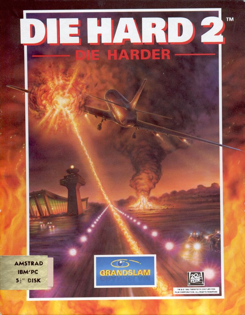 Die Hard 2: Die Harder DOS Front Cover