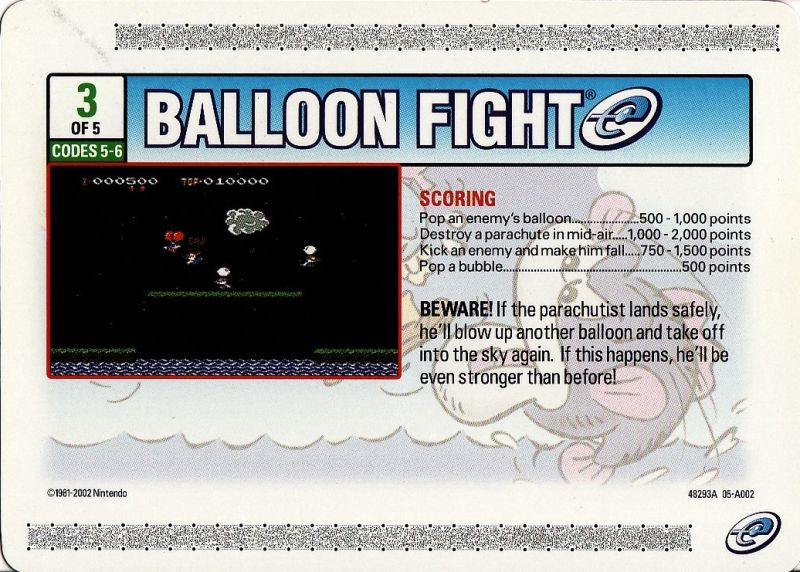 Balloon Fight Game Boy Advance Media e-Card 3 - Front