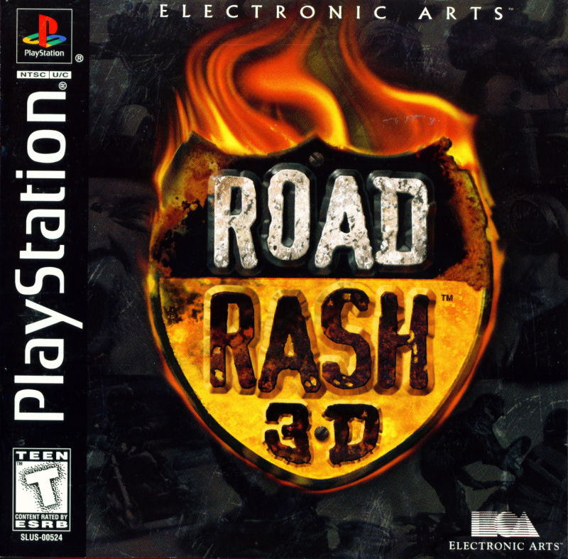 Road Rash 3-D PlayStation Front Cover Also a manual
