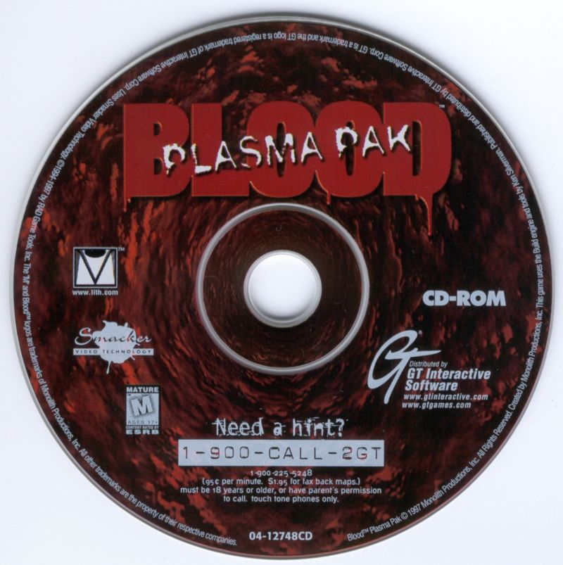 Blood: Plasma Pak DOS Media Disc 1/1