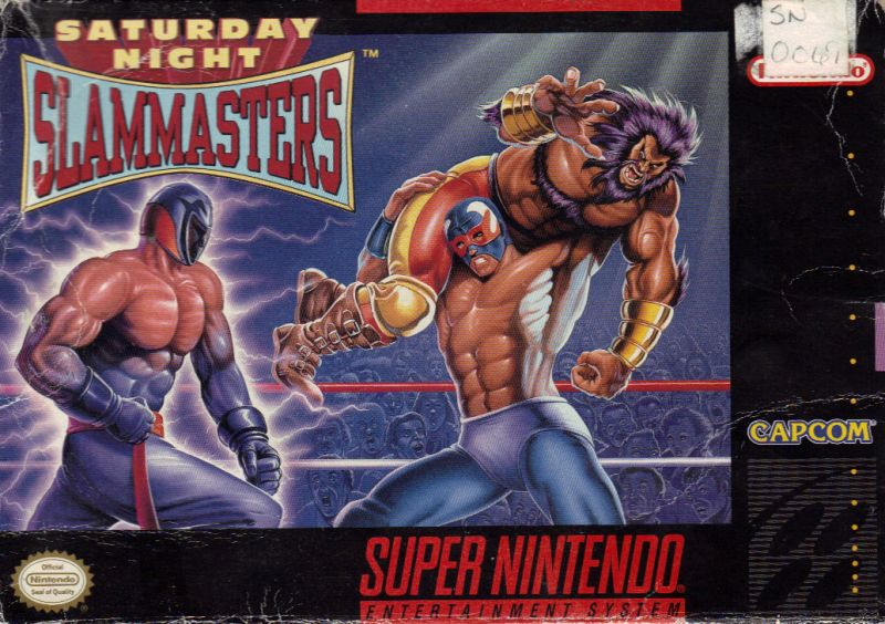 Saturday Night Slam Masters SNES Front Cover
