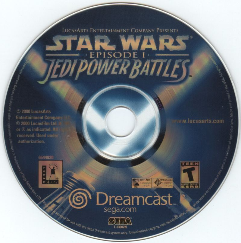 Star Wars: Episode I - Jedi Power Battles Dreamcast Media