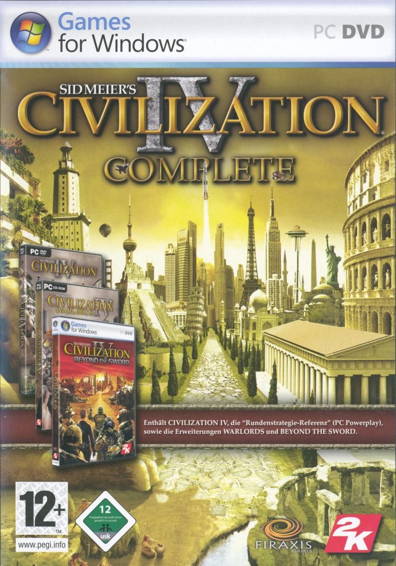 Sid Meier's Civilization IV: Complete Windows Front Cover