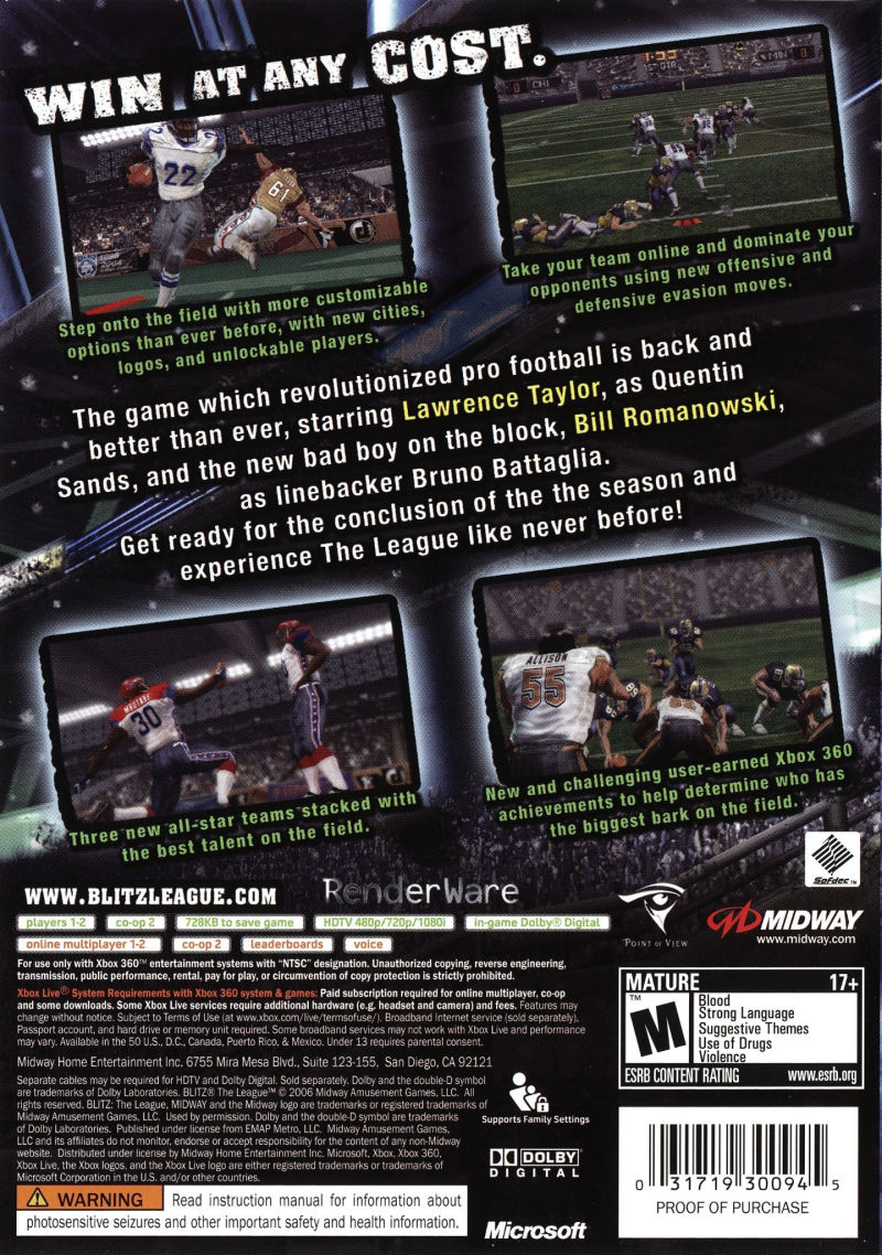 Blitz: The League (2005) PlayStation 2 box cover art - MobyGames