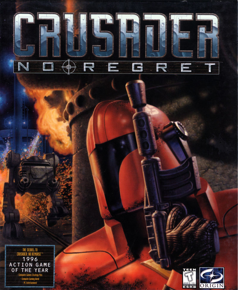 Crusader: No Regret DOS Front Cover