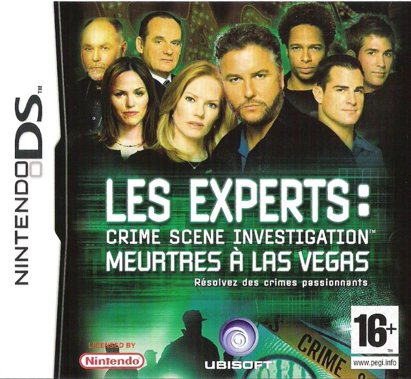 CSI: Crime Scene Investigation - Dark Motives Nintendo DS Front Cover