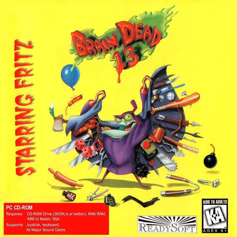 Brain Dead 13 DOS Front Cover