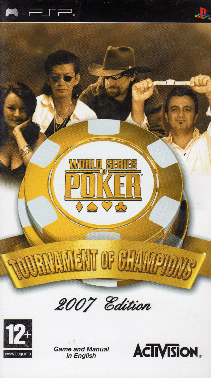 World Series of Poker: Tournament of Champions PSP Front Cover
