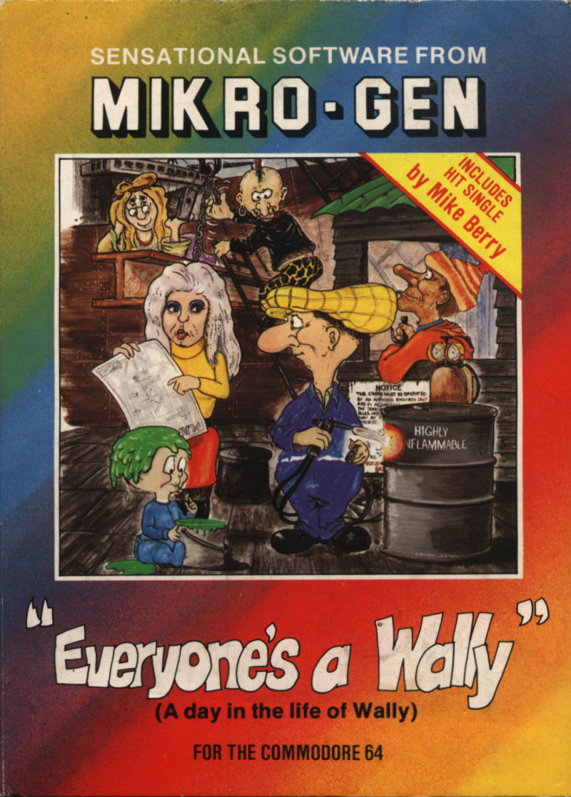 Everyone's A Wally (The Life of Wally) Commodore 64 Front Cover