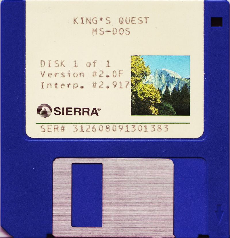 "King's Quest DOS Media 3.5"" Disk 1/1"