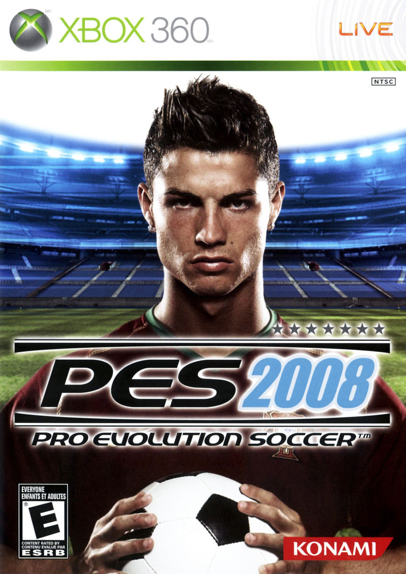 PES 2008: Pro Evolution Soccer Xbox 360 Front Cover