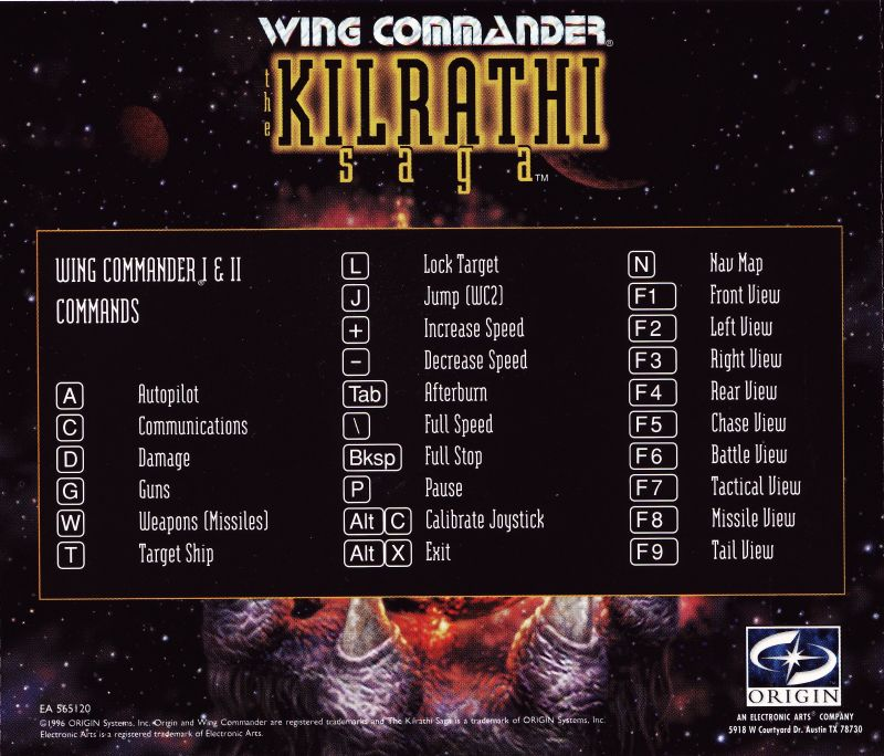 Wing Commander: The Kilrathi Saga Windows Other Jewel Case 1 - Back