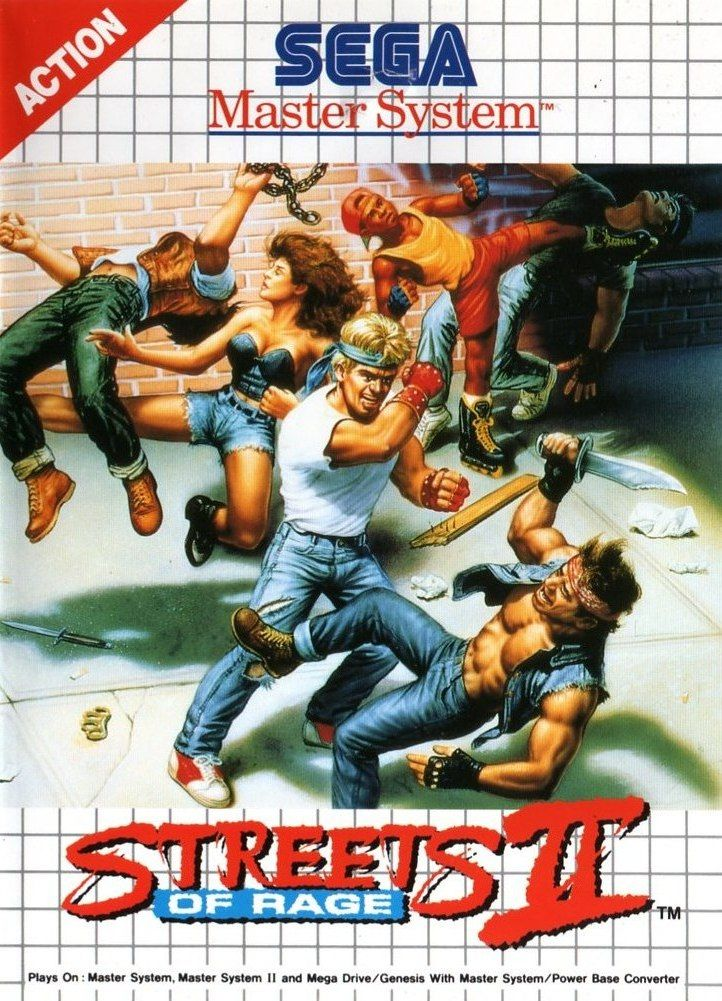 Streets of Rage 2 SEGA Master System Front Cover