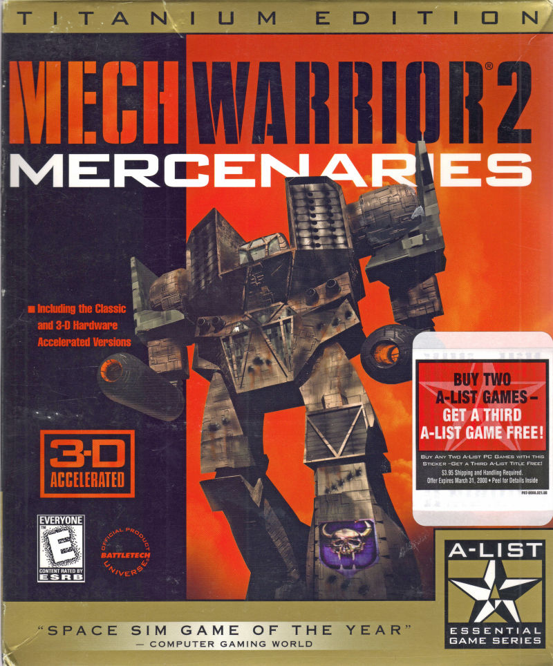 MechWarrior 2: Mercenaries (Titanium Edition) Windows Front Cover