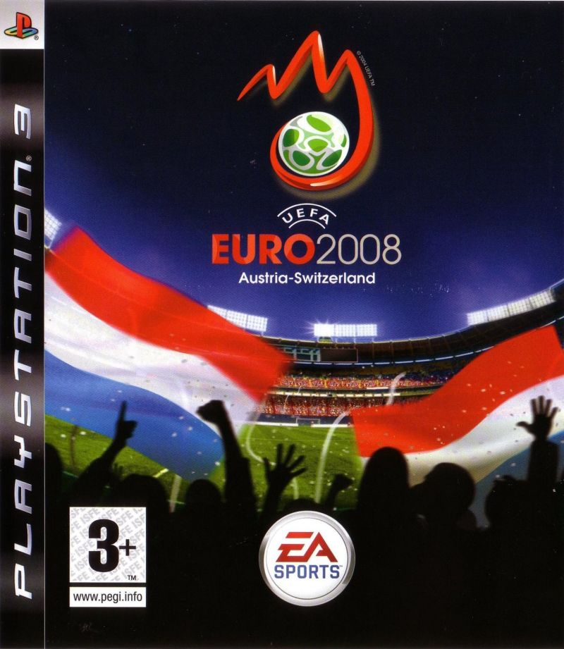 UEFA Euro 2008 PlayStation 3 Front Cover