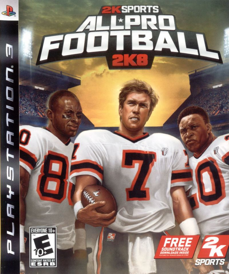 All-Pro Football 2K8 PlayStation 3 Front Cover