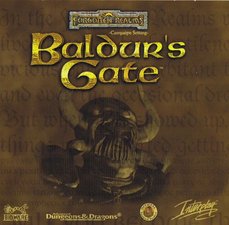 Baldur's Gate Windows Other Cardboard Case - Front