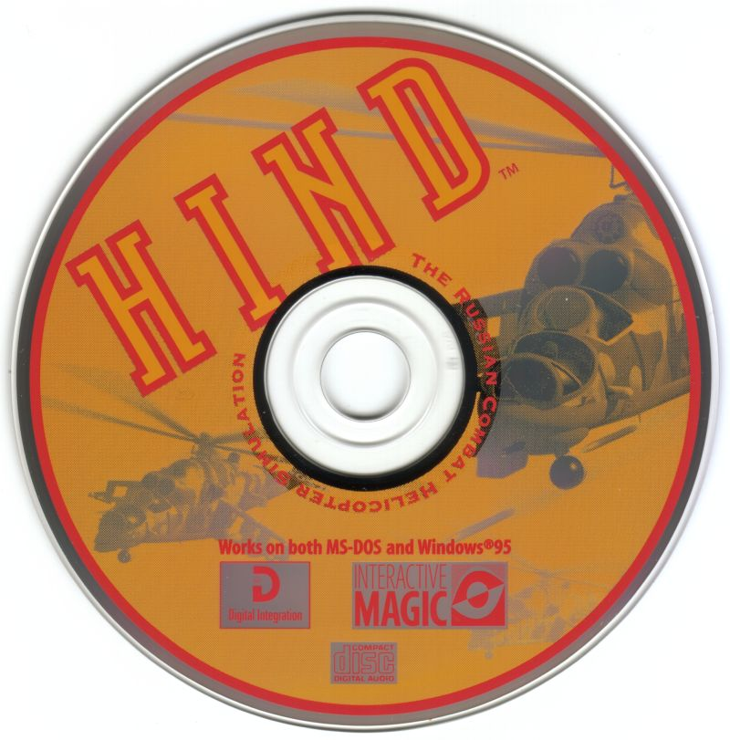 HIND: The Russian Combat Helicopter Simulation DOS Media