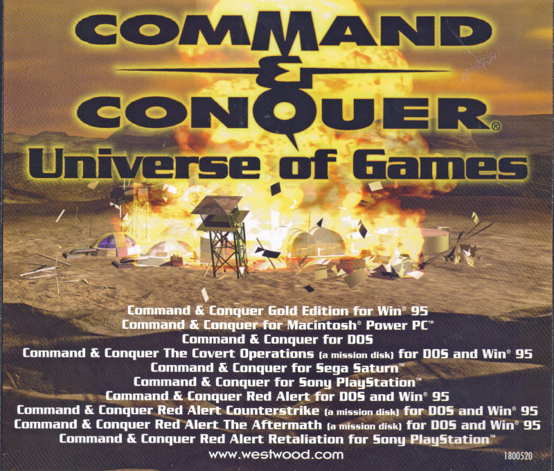 Command & Conquer: Red Alert - The Arsenal DOS Other <i>The Aftermath</i> - Jewel Case - Back