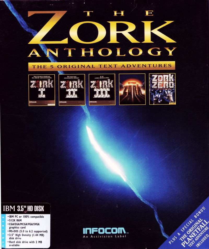 The Zork Anthology DOS Front Cover