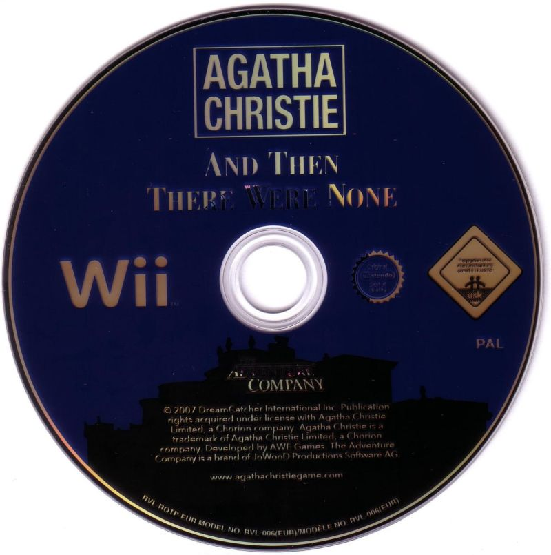 Agatha Christie: And Then There Were None Wii Media