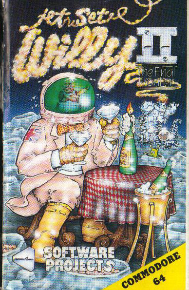 Jet Set Willy II: The Final Frontier Commodore 64 Front Cover