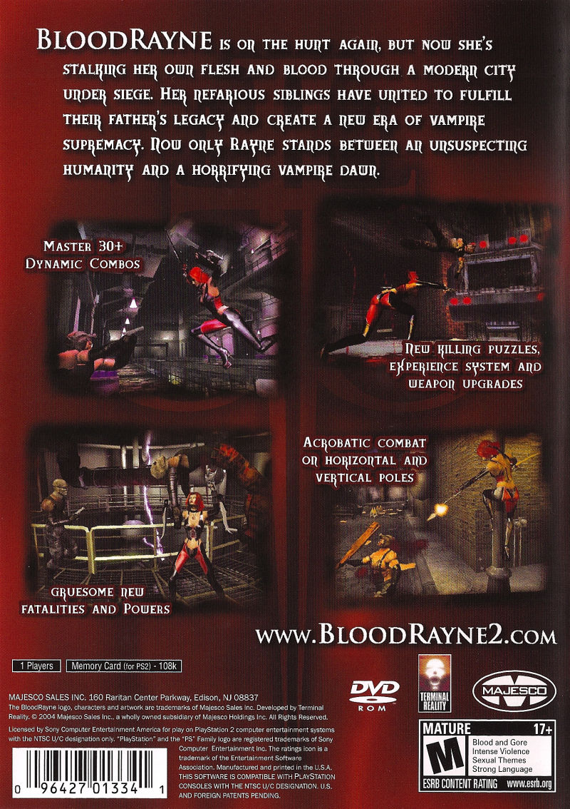 Bloodrayne 2 2004 Playstation 2 Box Cover Art Mobygames