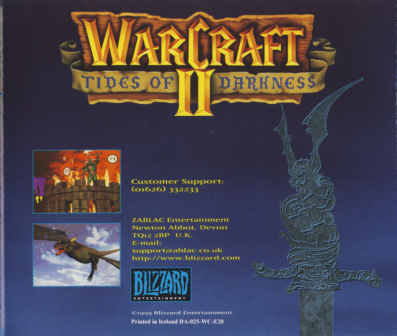 Warcraft II: Tides of Darkness DOS Other Jewel Case - Back
