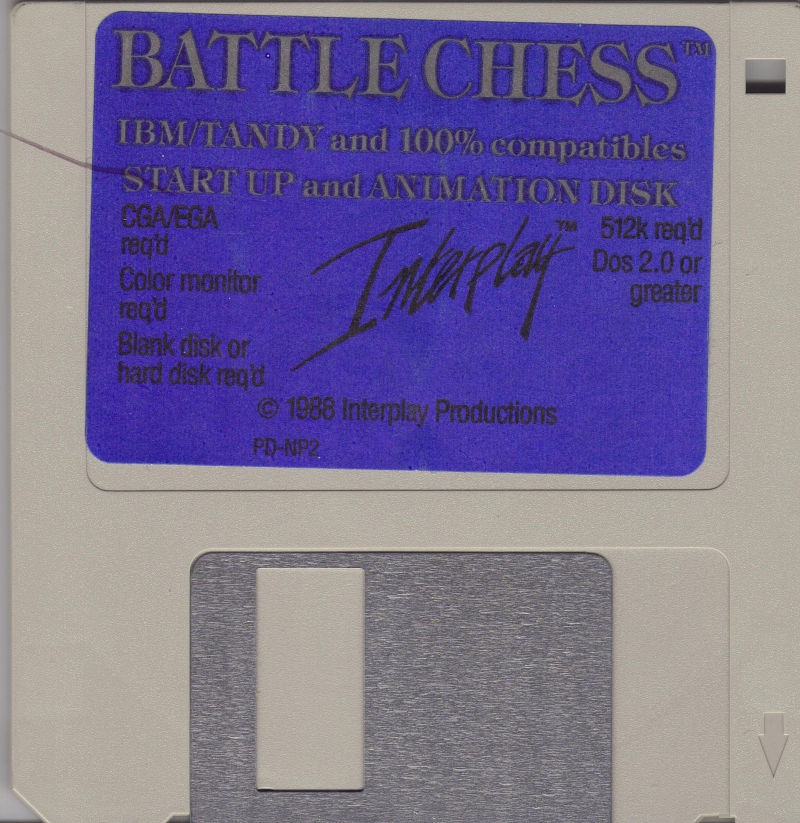 Battle Chess DOS Media