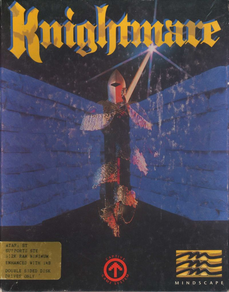 Knightmare Atari ST Front Cover