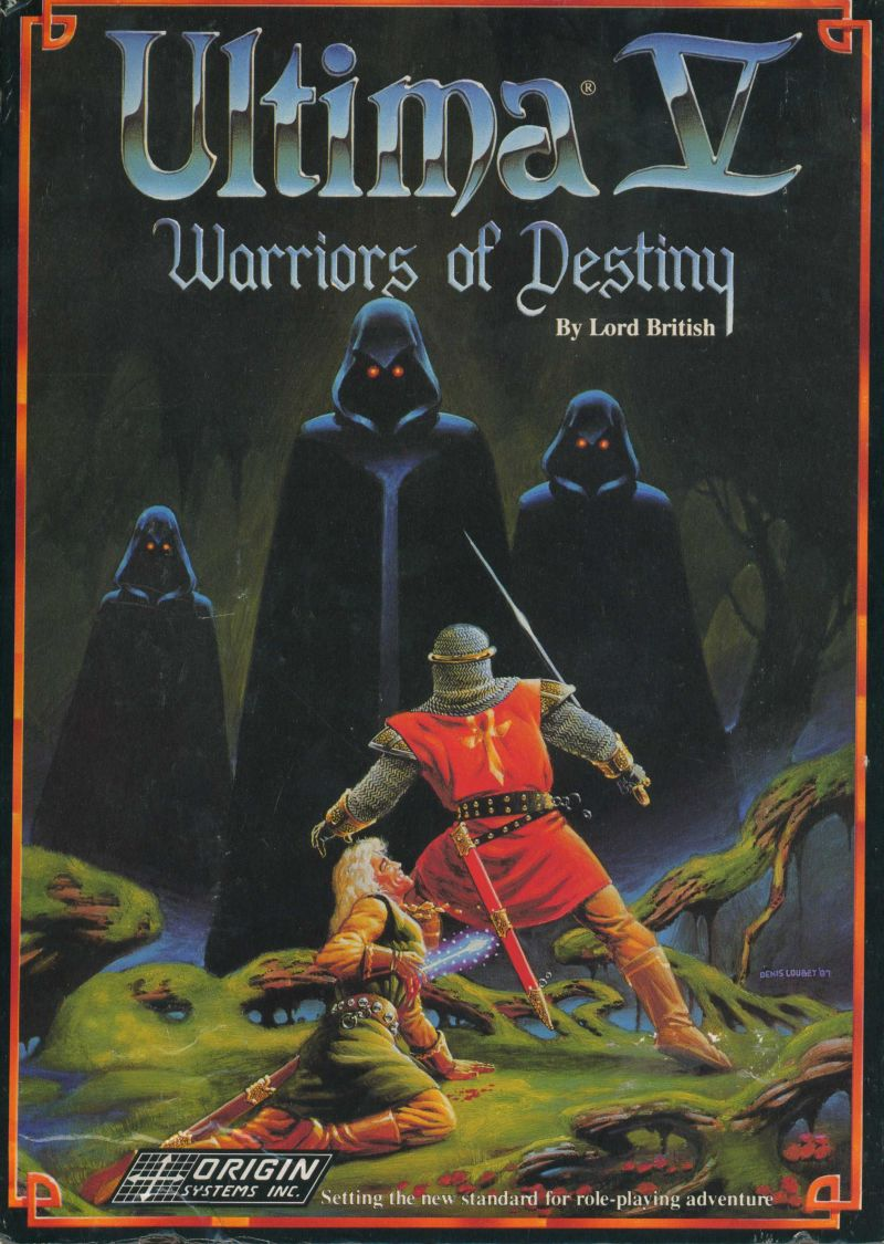 Ultima V: Warriors of Destiny DOS Front Cover