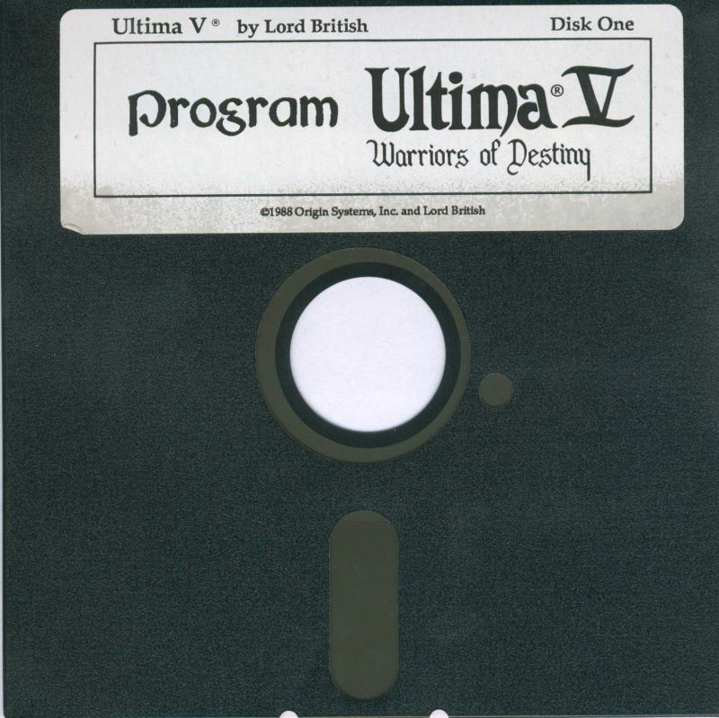 Ultima V: Warriors of Destiny DOS Media Disk 1 Program