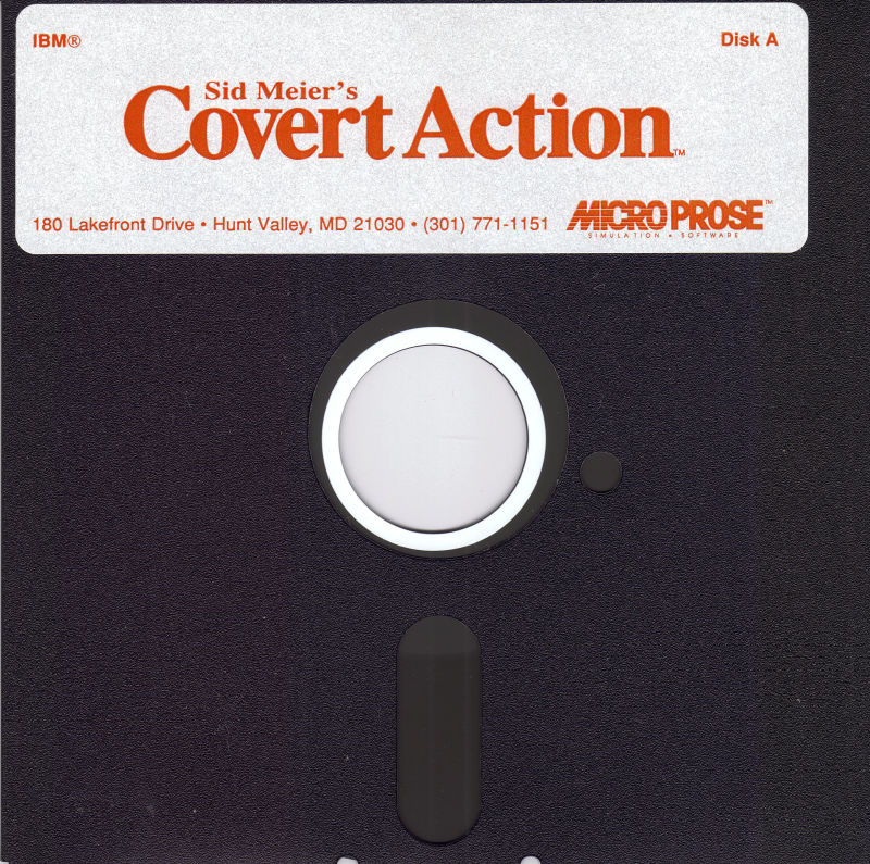 Sid Meier's Covert Action DOS Media